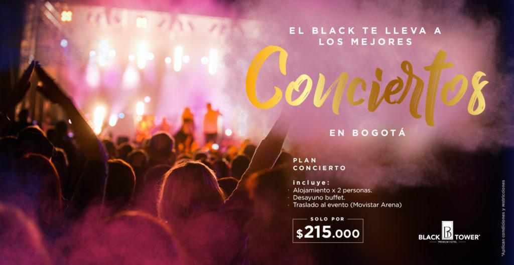 Paquete concierto Black Tower Hotel